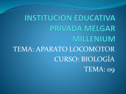CLASE APARATO LOCOMOTOR I