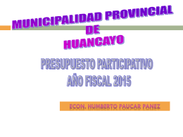 Diapositiva 1 - Municipalidad Provincial de Huancayo