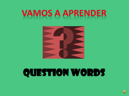 question WORDS?