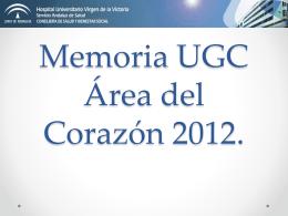 Memoria UGC Área del Corazón 2012.