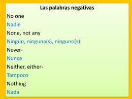 Negative words ppt intro