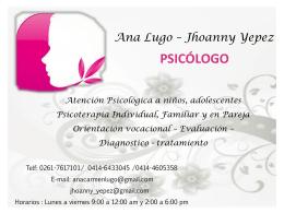 Diapositiva 1 - Psicologia Venezuela