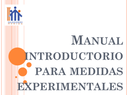 Metodos experimentales