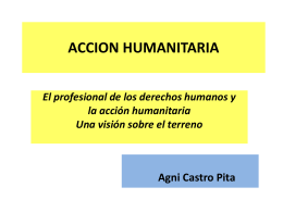 accion humanitaria