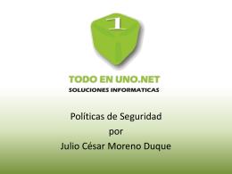 Politicas TODOENUNO.NET