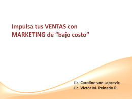 MARKETING de BAJO COSTO - INICIA