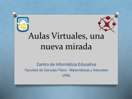 Aulas Virtuales, una nueva mirada2