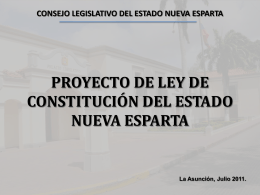 CONSEJO LEGISLATIVO DEL ESTADO NUEVA ESPARTA