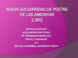 NUEVA SOLIDARIDAD DE POETAS DE LAS AMERICAS 1.962
