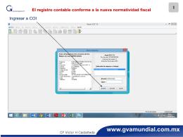El registro contable conforme a la nueva normatividad