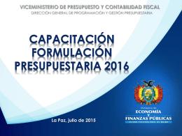 1.mefp poa - Ministerio de Autonomías