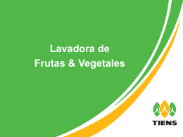 Lavadora de Frutas y Verduras Código G10