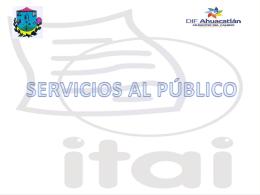 21.- Servicios al público - DIF