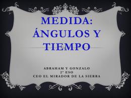 MEDIDAS:ÁNGULOS Y TIEMPO - matematicasvillacastin2