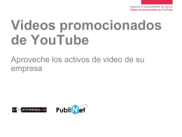 Videos promocionados de YouTube