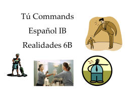 Tú Commands - Effingham County Schools