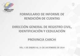 CARCHI Informe Final