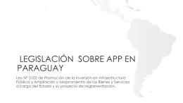 Ley de APP en Paraguay – Presentación 17.2.14