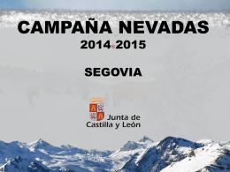 NEVADAS JCyL Segovia 2014-2015