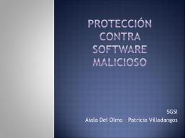 Protección contra Software Malware