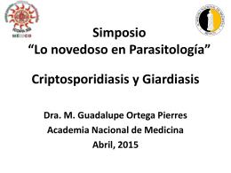 Dra. Guadalupe Ortega-Pierres - Academia Nacional de Medicina