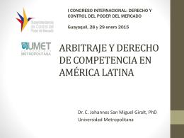 arbitraje y derecho de competencia en américa latina