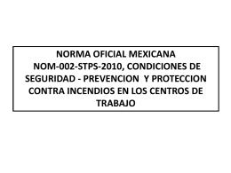 PREVENCION Y PROTECCION CONTRA INCENDIOS EN LOS