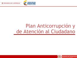 Presentación Plan Anticorrupción
