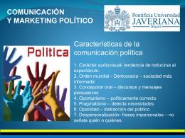 comunicación y marketing político - RelacionesPublicas