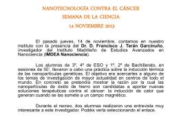 nanotecnología contra el cáncer semana de la ciencia 14