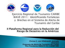 Ejercicio Regional de Tsunamis CARIBE WAVE 2011