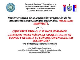 """Seminario Regional """"Combatiendo la violencia contra las mujeres"""""""