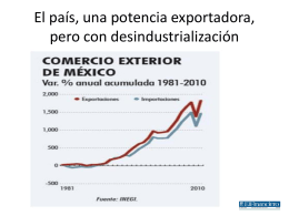 El país, una potencia exportadora, pero con desindustrialización