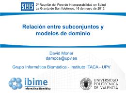 Subconjuntos y modelos de dominio