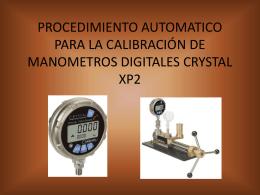 procedimiento automatico para la calibración de - metrologia-ava