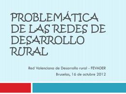 El desarrollo rural en la Comunidad Valenciana