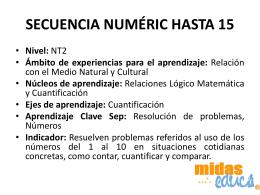 SECUENCIA NUMÉRIC HASTA 15 - Midas