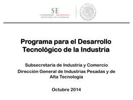 Programa para el Desarrollo Tecnológico de la Industria