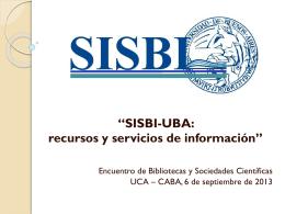 Encuentro de Bibliotecas y Sociedades Científicas. UCA