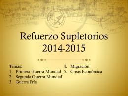 Refuerzo Supletorios 2014-2015