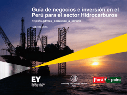 Presentación Peru`s oil & gas investment guide - peru