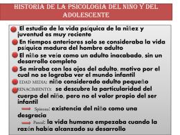 Presentación hist de la psicologia del niño y el adolescente