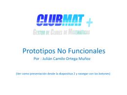 Prototipos No Funcionales CLUBMAT