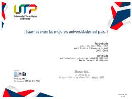 Presentación: Plan de Desarrollo Institucional