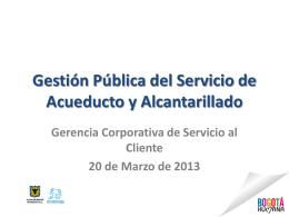 Gestión Pública del Servicio de Acueducto y Alcantarillado