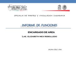 INFORME TRIMESTRAL - Municipio de Salina Cruz Oaxaca