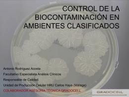 control de la biocontaminación en ambientes clasificados