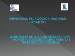 INTRODUCCIÓN - Universidad Pedagógica Nacional, Unidad 011