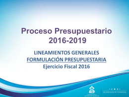 3-Lineamientos Generales Formulación Presupuestaria