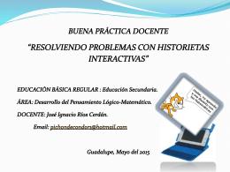 1. Presentación de el/los docentes responsables de la práctica.